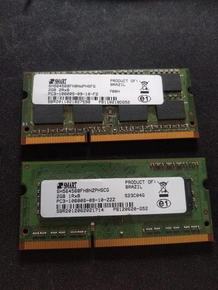 Kit De Memoria Smart Ddr3 2gb Pc3-10600s 1rx8/2rx8 Notebook