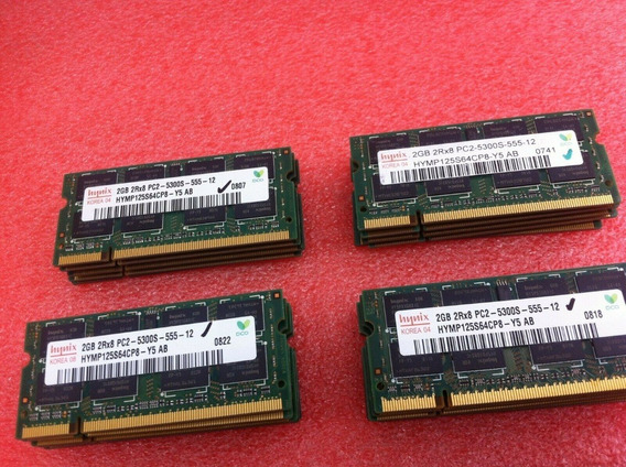 Memoria Notebook Netbook 2gb Ddr2 Pc2-5300s 2rx8 Ddr2 667mhz