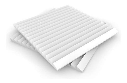 Imagen 1 de 4 de Panel Acústico Premium Blanco Ignifugo - Saw 20mm