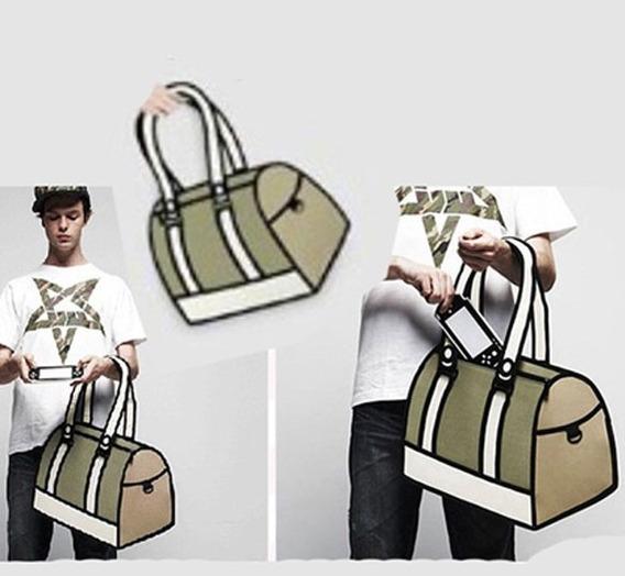 Bolso Cartera Diseño 2d 3d Cartoon Bag Handbag Importada 18