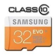 Cartão Micro Sd Sdhc Samsung Evo 32gb Classe 10 48mb/s Uhs-