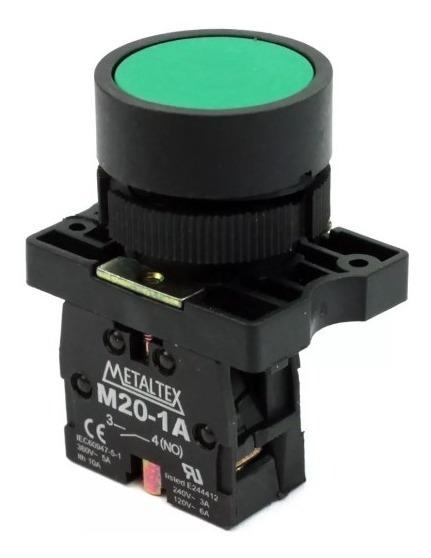 Botoeira Pulsante 22mm Na Verde P20afr-g-1a (botoeira Liga)