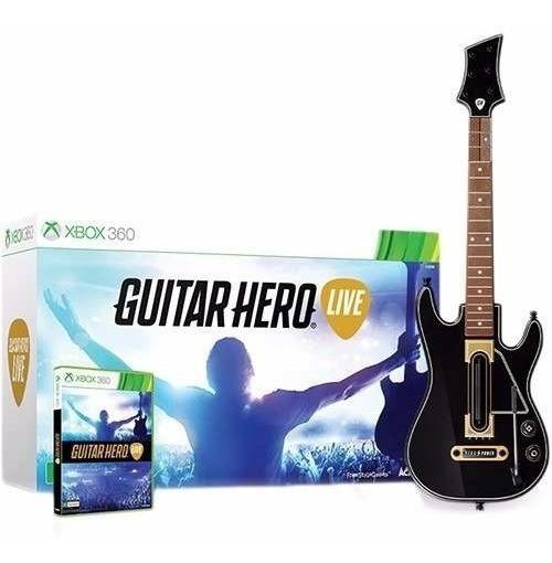 Guitar Hero Live Bundle Jogo + Guitarra Xbox 360 Original