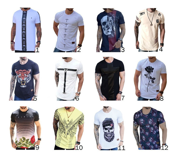 Combo C/2 Camisa Longline Camiseta Oversized Masculina Swag