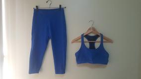 Conjunto Fitness Azul Top Legging Ace Sports Tamanho M