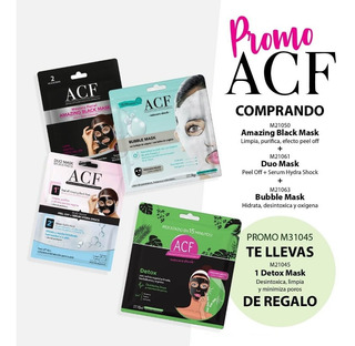 Promo Mascaras Faciales Acf X 3 + Detox Free M21017