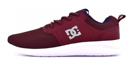 Tenis Dc Shoes Midway Sn Burgandy Textil Talla 29.5cm