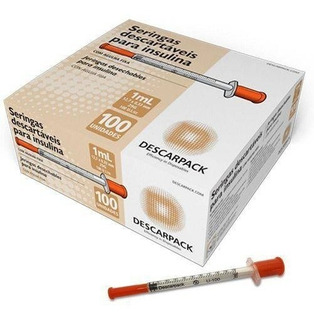 Seringa 1 Ml Ultra Fina P/ Insulina 80x30 Com 100 Un Descar