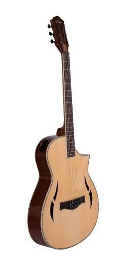 Guitarra Acústica Parquer Gipsy Media Caja Corte Funda Cuota