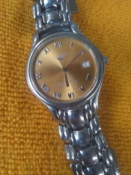 Hermoso Reloj Longines Efc Carátula Champang Cristal Zafiro