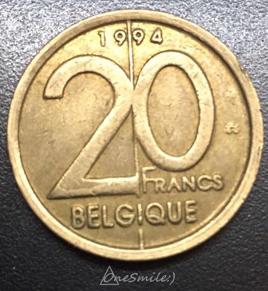 Onesmile:) Moneda De Bélgica 20 Francos 1994 Albert Il