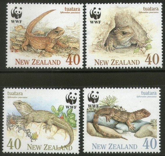 Fauna - Wwf - Reptiles - Nueva Zelanda - Serie Mint