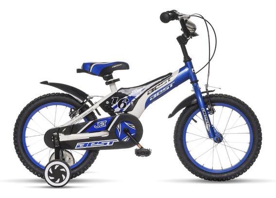 Bicicleta Best De Niño Jet Aro 16 Azul