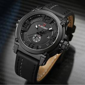 Relógio Masculino Naviforce Original Militar Analógico Couro