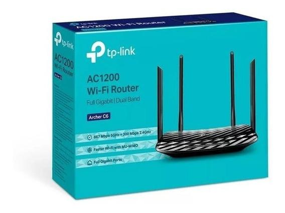 Roteador Tp-link Archer C6 2.4/5.0 Ghz Ac1200 Gigabit + Nf