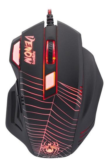 Mouse Gamer Venon Spider Com Led Usb Computador Fortrek