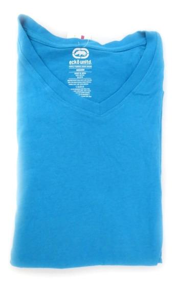 Camisa Masculina Ecko Unltd Azul Água Original