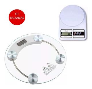 Kit Balança Banheiro + Balança Digital Cozinha Promoção Top
