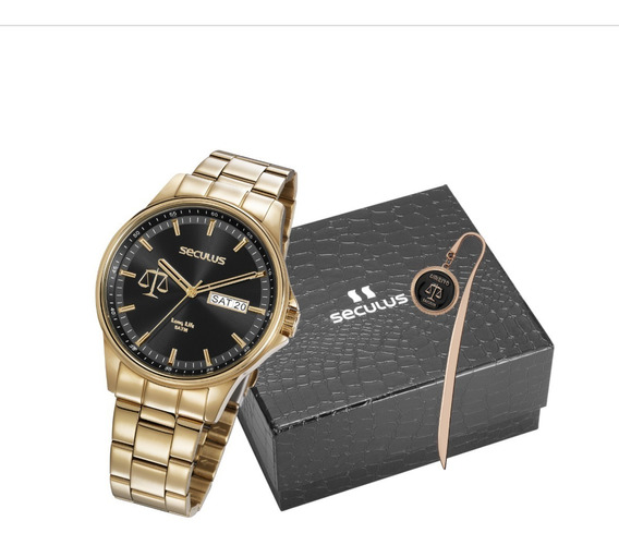 Relógio Seculus Kit Especial Direito 35013gpskda1 C/nf