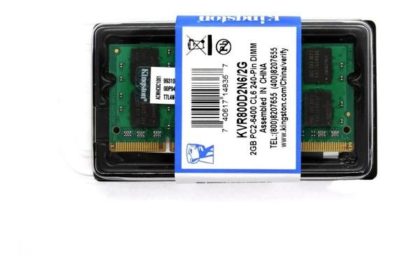 Memoria Kingston 2gb Ddr2 1.8v 800mhz Kvr800d2s6/2g Pc2 6400