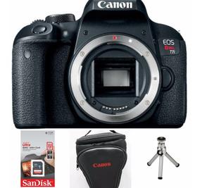 Câmera Canon T7i (corpo) + Memória 32gb + Bolsa + Mini Tripé