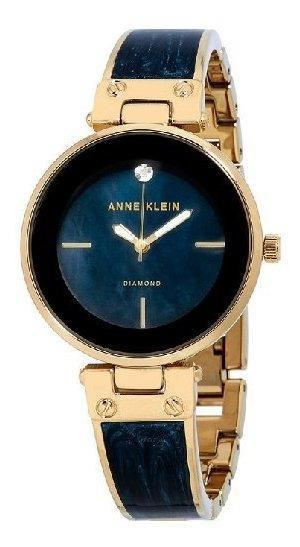 Relógio Analógico Anne Klein Diamante 2512-nvgb Feminino - Dourado / Azul Marinho