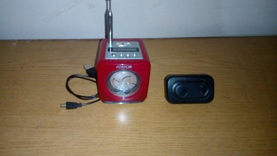 Caixa De Som Foston Rádio, Usb E Sd