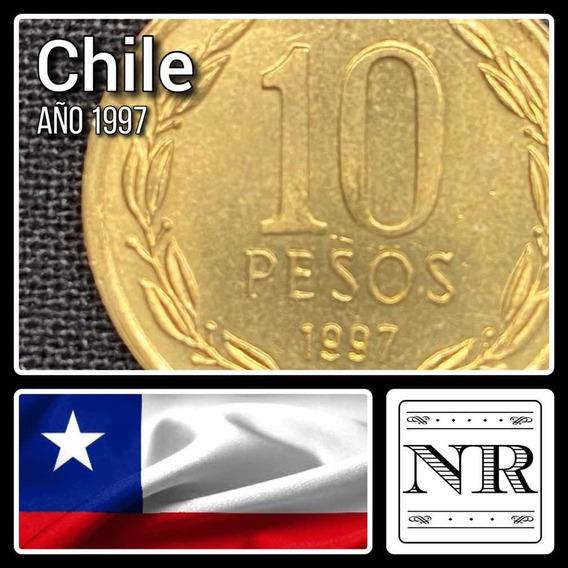 Chile - 10 Pesos - Año 1997 - Bronce - Km# 228.2