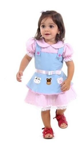 Fantasia Fazendinha Menina Vestido 1 Ano Sulamericana 11635
