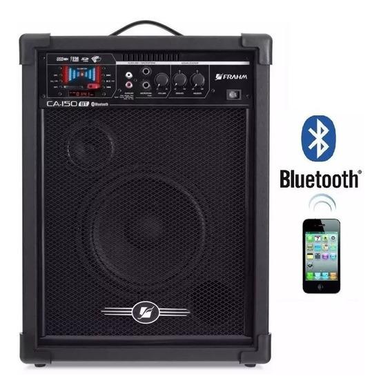 Caixa De Som Frahm Amplificada Ca-150 Bluetooth Usb Sd Fm