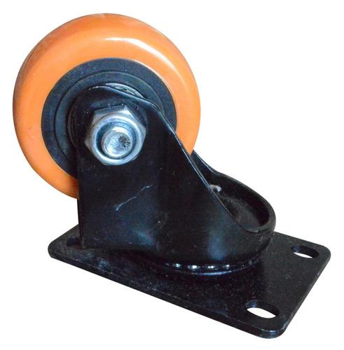 Rodachines 2 1/2'' Plano Naranja Pesa Giratorio 65mm
