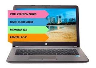 Notebook Hp 14 - Intel N4000 - 4gb -500gb - Windows 10 Ori.