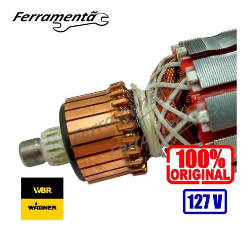 Imagem 1 de 4 de Induzido Rotor Lixadeira Parede Wbr 750 Original Novo 127v