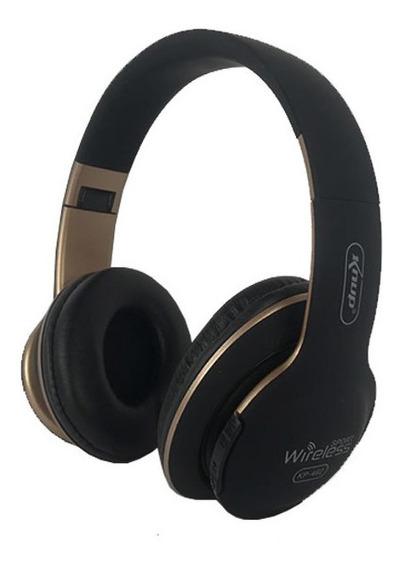 Fone De Ouvido Headphone Sem Fio Microsd Bluetooth Fm Kp-462