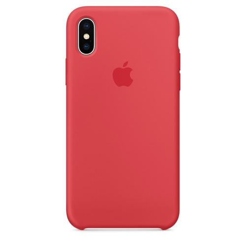 Carcasa Funda De Silicona Para iPhone X Frambuesa