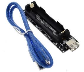 Módulo Bateria 18650 Para Esp32 Arduino Raspberry Pi C/ Cabo