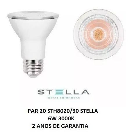 Stella Lampada Led Par 20 6w 3000k Unidade