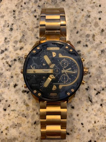 Relógio Diesel Dourado Dz7333 Mr. Daddy (original)