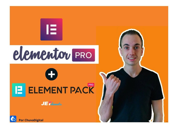Elementor Pro + Element Pack + Jet Brinde Plugin Wordpress