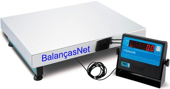 Balança Eletronica Inox 300kg X 100g 50x60 Garantia Inmetro