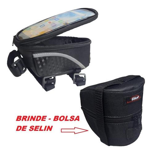 Imagem 1 de 8 de Porta Celular Para Bike + Bolsinha De Selin - Brinde !