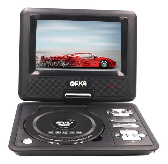 Dvd Portatil 7 Pol Tela Multimedia Tv Digital Cd Sd Usb Jogo