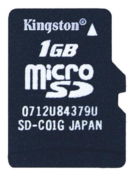 Kit Cartão De Memória Microsd Kingston 1gb + 02 Adaptadores