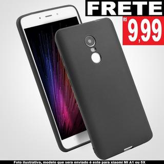 Capa Case Ultra Fina Slim Preta Fosca Xiaomi Mi A1 5x