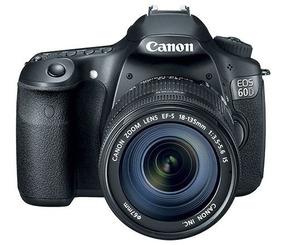 Canon 60d Único Dono Na Caixa E Lente 18-135mm/12.097 Clicks