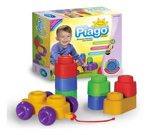 Bloques Blandos Para Bebes X 14 Rasti Piago 01-1301 Edu Full