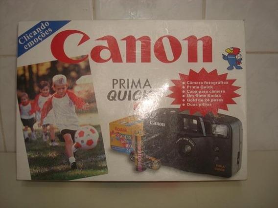 Máquina Fotográfica Antiga Prima Quick Da Canon Funcionando