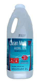 Álcool Liquido 2 Litros 70% Clean Mult
