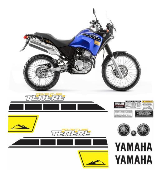 Kit Completo Adesivo Yamaha Tenere 250 2016 Azul Tnr017 Fgc