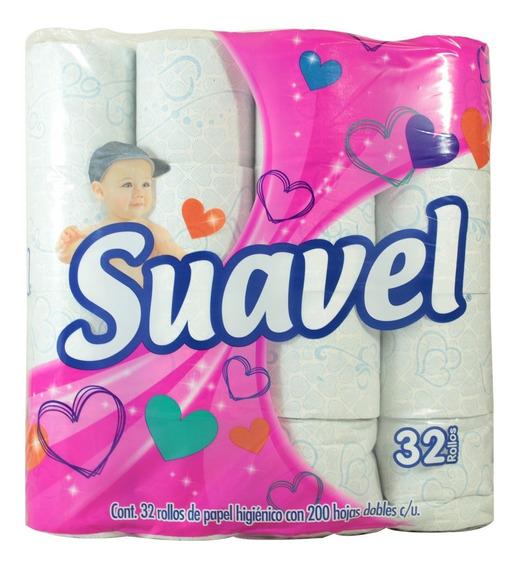 Papel Higiénico Suavel Con Aroma 32 Pzas 200 Hojas
